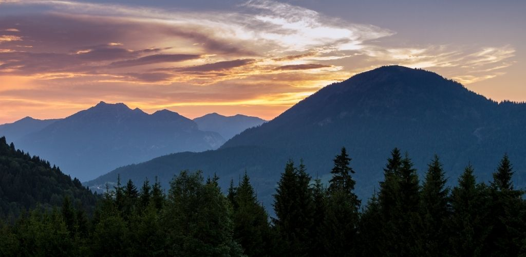 Urlaub in den Bergen Bayern Aussicht